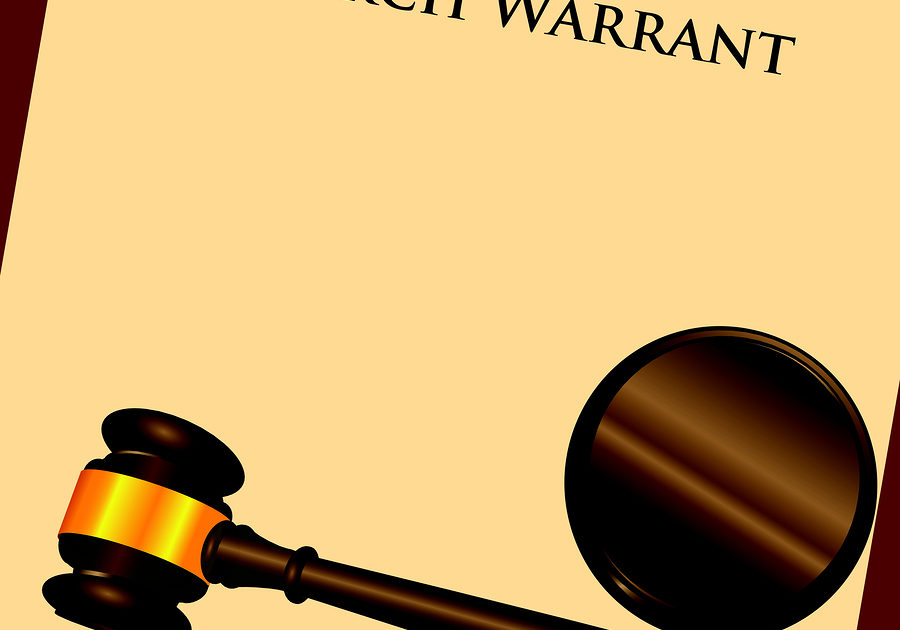 criminal search warrant illustration
